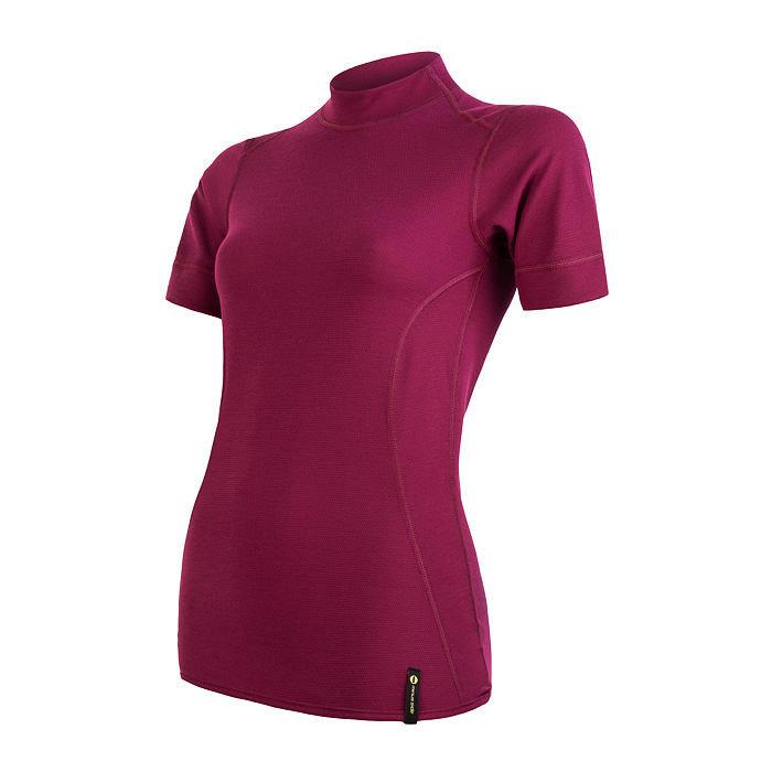 Fialové dámské funkční tričko s krátkým rukávem Sensor