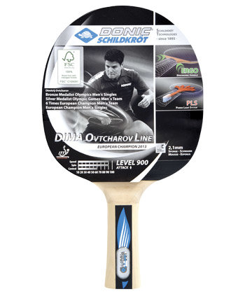 Dřevěná pálka na stolní tenis Ovtcharov 900 FSC, Donic