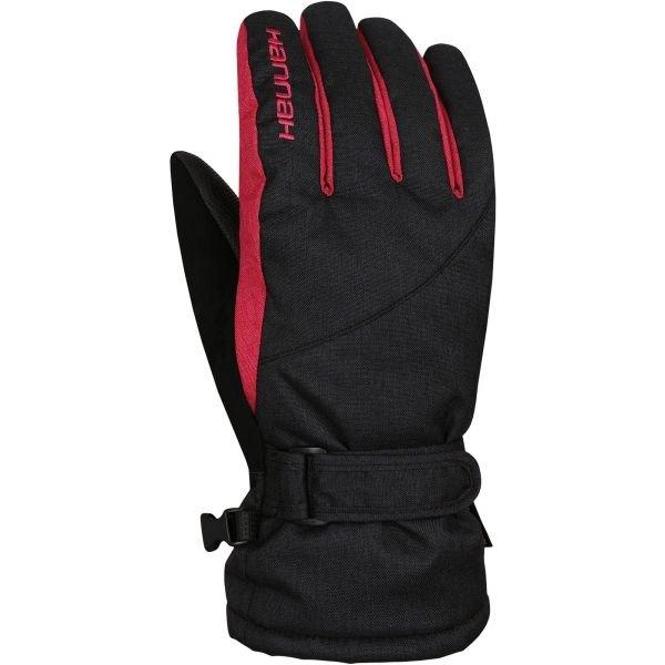 Černé dámské lyžařské rukavice Hannah