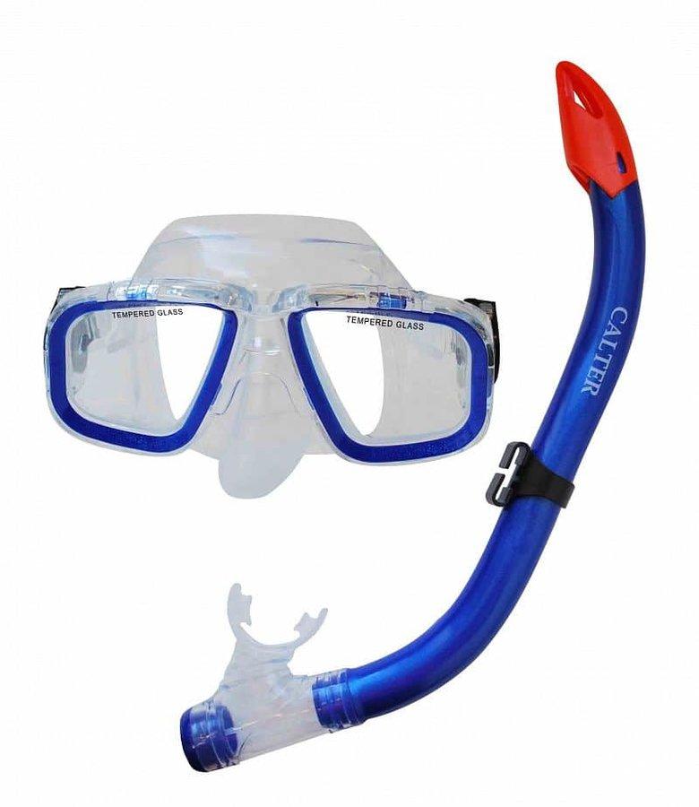 Potápěčská maska - Potápěčský set CALTER JUNIOR S9301+M229 P+S, modrý