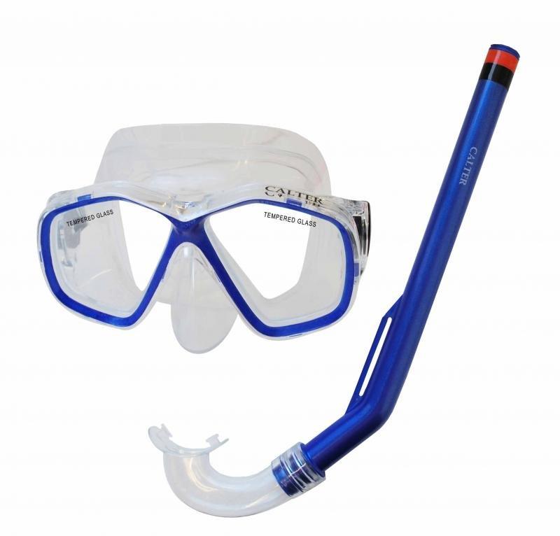 Potápěčská maska - Potápěčský set CALTER KIDS S06+M278 PVC, modrý