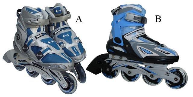 Modro-šedé kolečkové brusle Acra - velikost 37 EU
