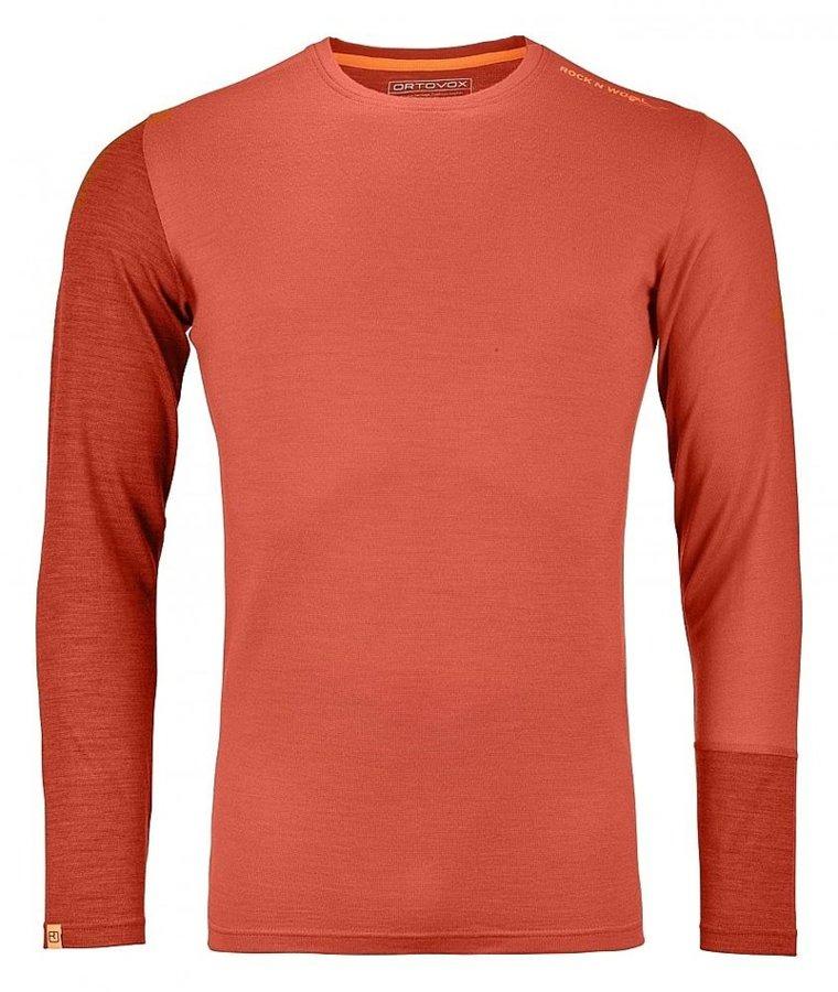 Oranžové pánské termo tričko s dlouhým rukávem Ortovox - velikost M