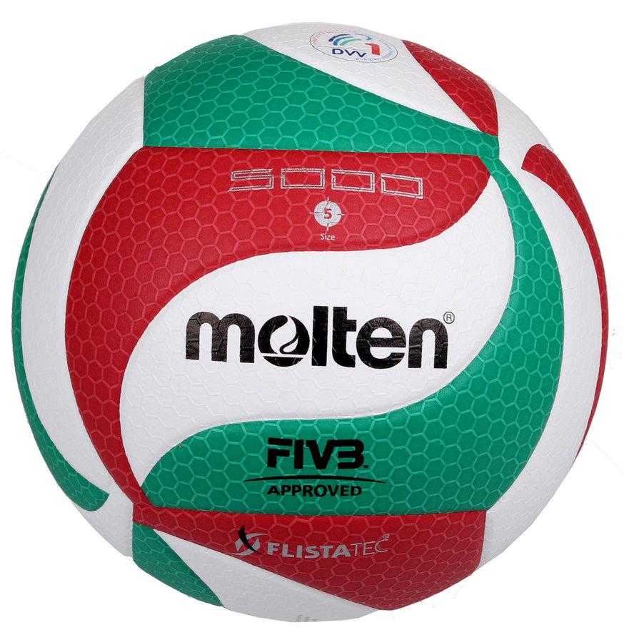 Různobarevný volejbalový míč V5M5000, Molten - velikost 5