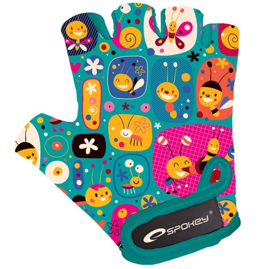 Modré dětské chlapecké nebo dívčí cyklistické rukavice Spokey - velikost XS