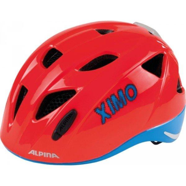 Červená dětská cyklistická helma Alpina