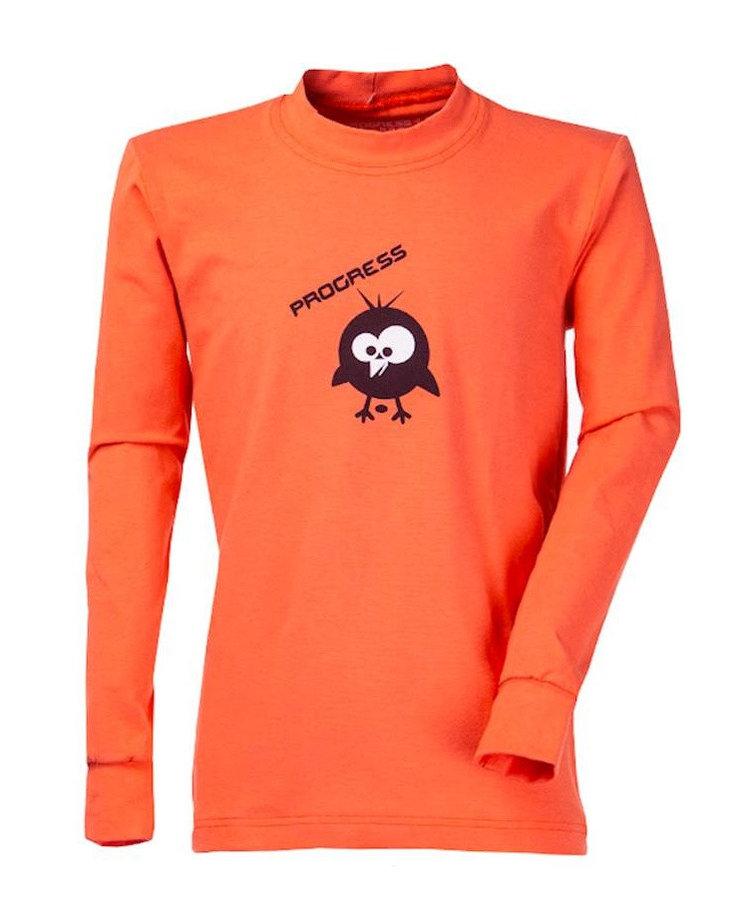 Oranžové dětské funkční tričko s dlouhým rukávem Progress
