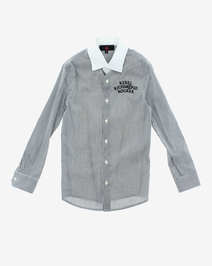 Šedá chlapecká košile s dlouhým rukávem John Richmond - velikost 116