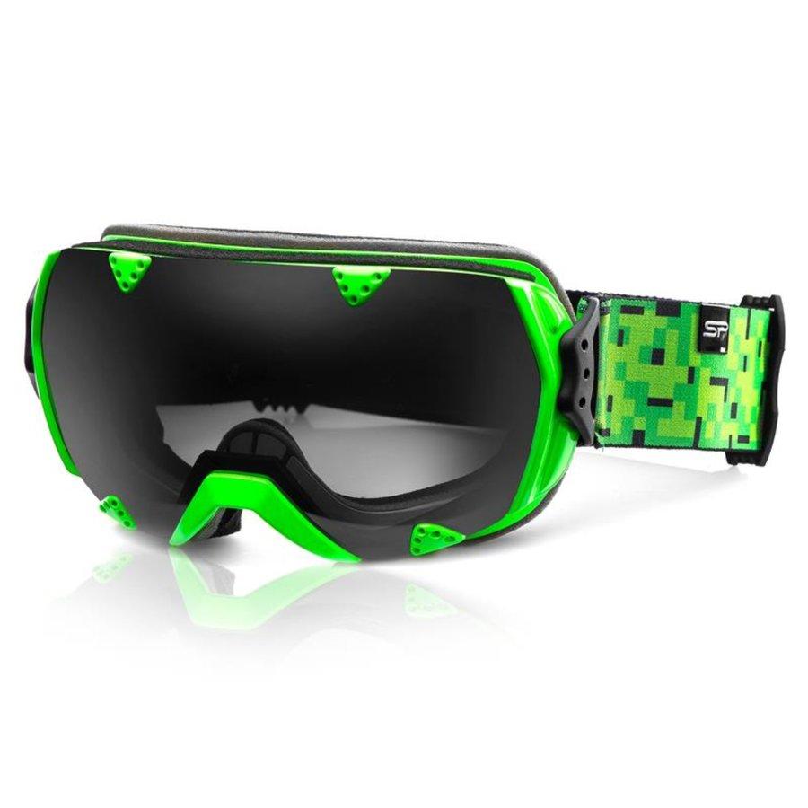 Zelené lyžařské brýle Spokey