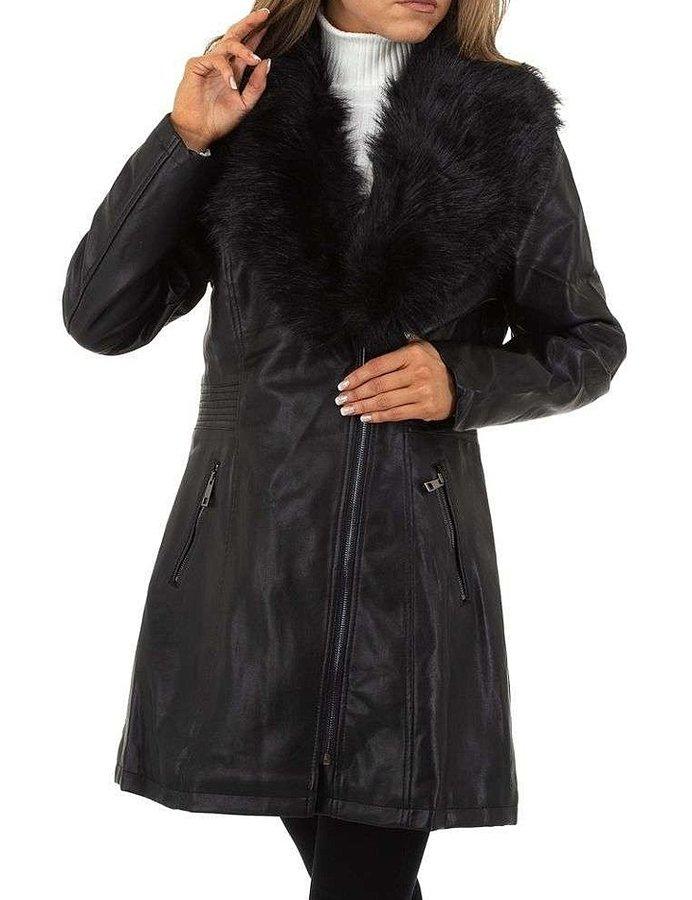 Černý dámský kabát - velikost L
