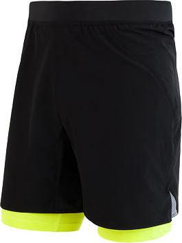 Černo-žluté pánské běžecké kraťasy Sensor