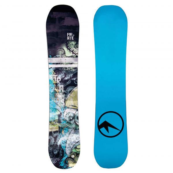 Černo-modrý dětský snowboard bez vázání Trans