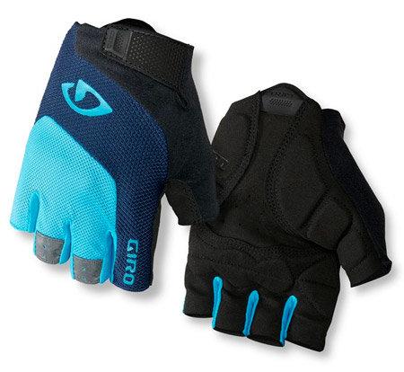 Černo-modré unisex cyklistické rukavice Giro - velikost M