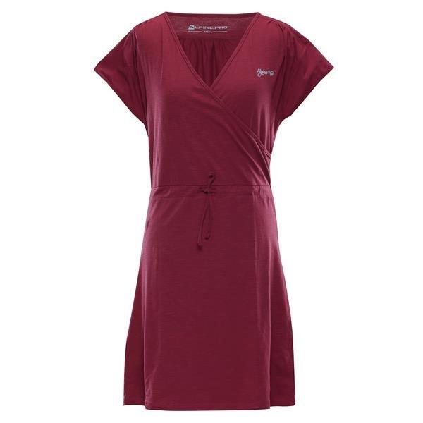 Červené dámské šaty Jurua 2, Alpine Pro - velikost XS