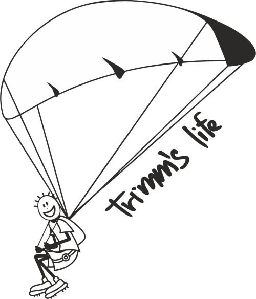 Šedé pánské tričko s krátkým rukávem Paragliding, Trimmslife - velikost L