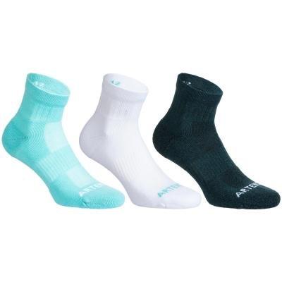 Různobarevné kotníkové tenisové ponožky  Artengo