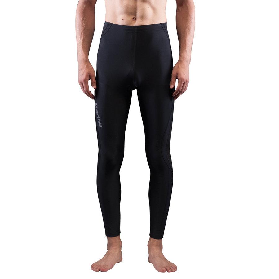 Černé pánské lycrové kalhoty Division, Aqua Marina - velikost S