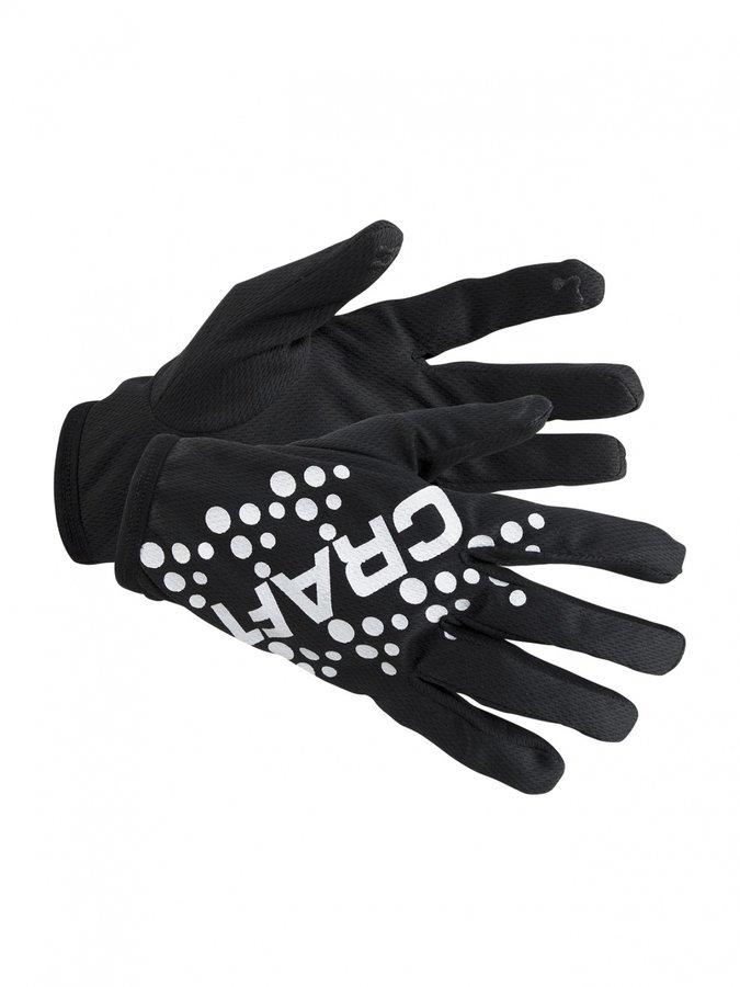 Černé zimní pánské nebo dámské běžecké rukavice Craft