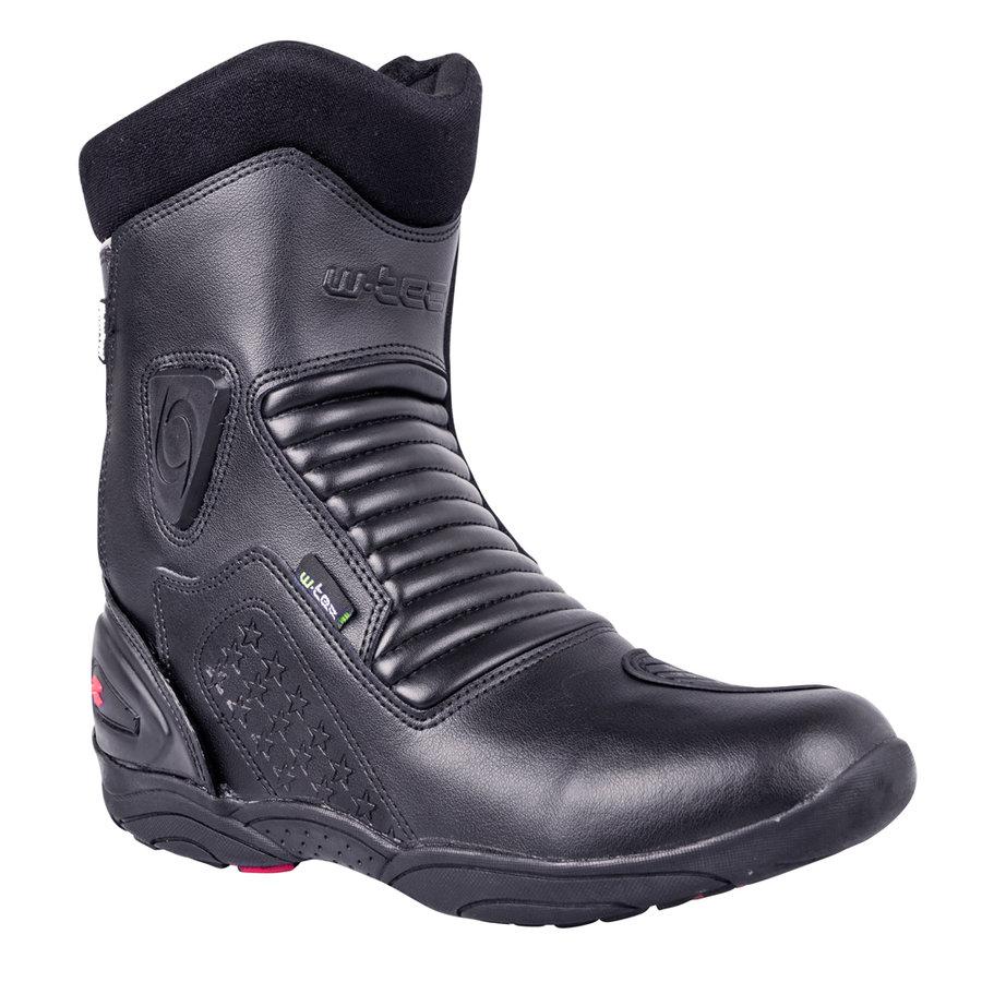 Černé nízké pánské motorkářské boty Benkoff NF-6052, W-TEC