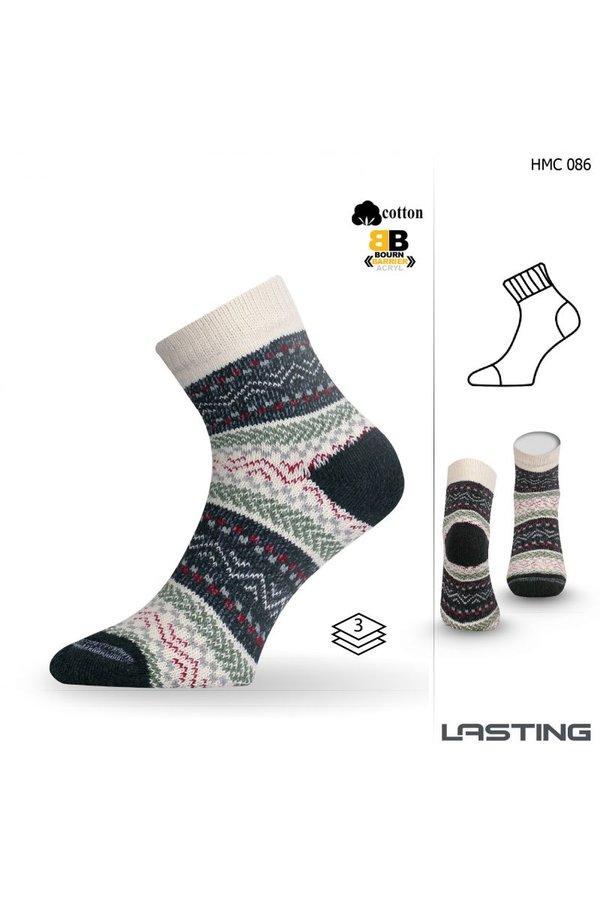 Bílo-zelené dámské trekové ponožky Lasting