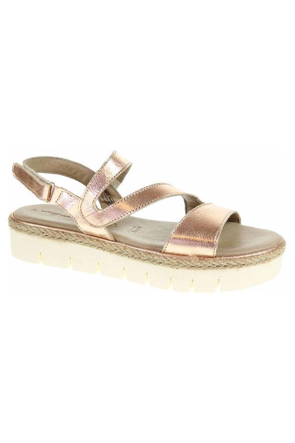 Růžové sandály Tamaris