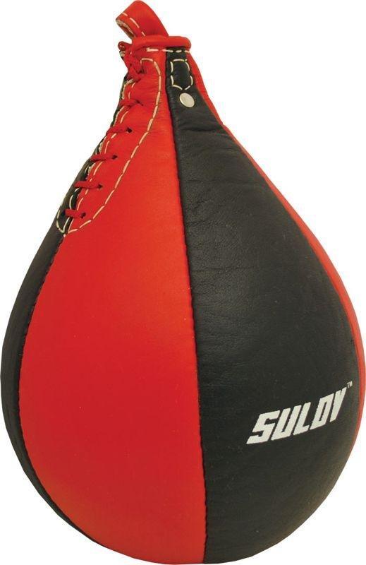 Černo-červená závěsná boxovací hruška Sulov