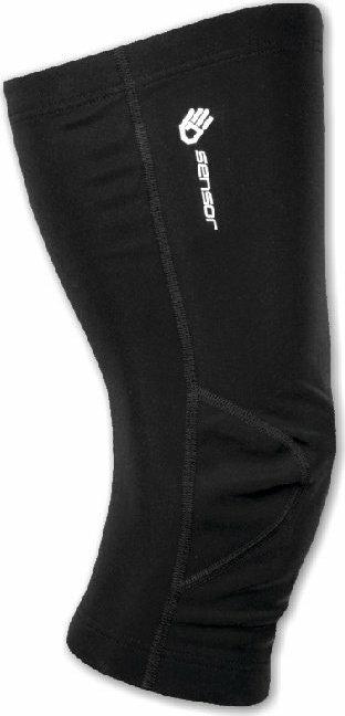 Černé cyklistické návleky na kolena Sensor
