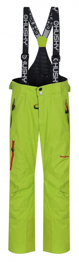 Zelené dětské lyžařské kalhoty Husky