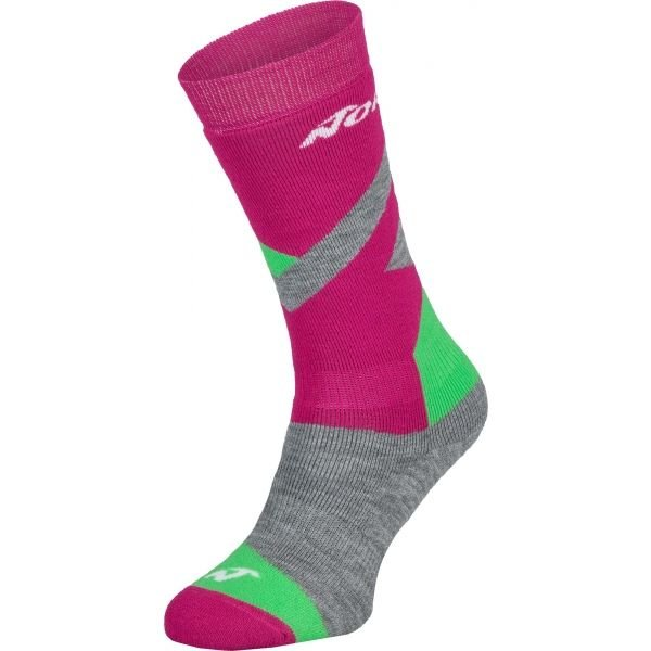 Růžové dívčí lyžařské ponožky Nordica