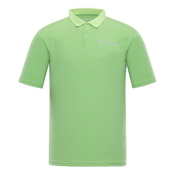 Zelená pánská polokošile s krátkým rukávem Alpine Pro
