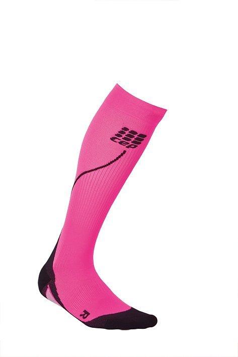 Růžové vysoké běžecké ponožky CEP - univerzální velikost