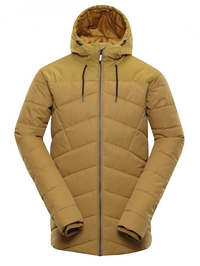 Béžová zimní pánská bunda Alpine Pro - velikost S
