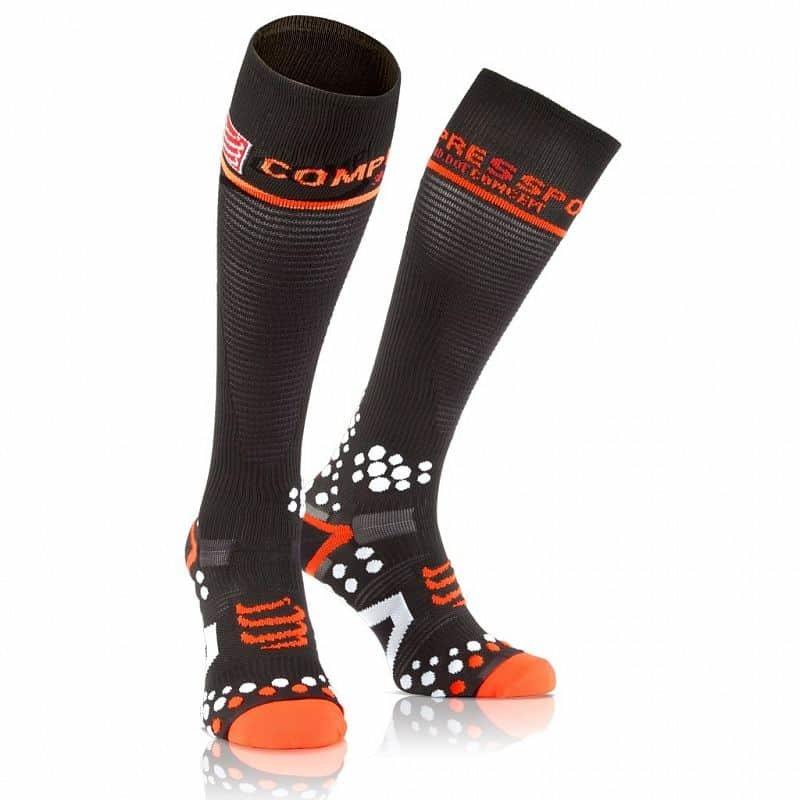 Černé pánské běžecké ponožky CompresSport