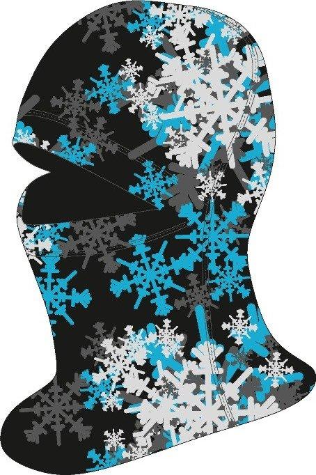 Černo-modrá lyžařská kukla Relax - velikost M