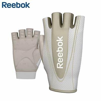 Šedé dámské fitness rukavice Reebok - velikost M-L