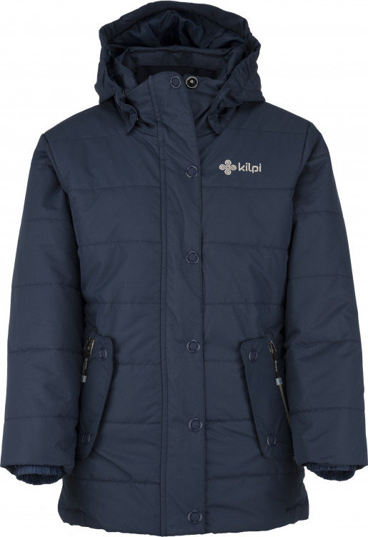 Modrá zimní dívčí bunda s kapucí Kilpi