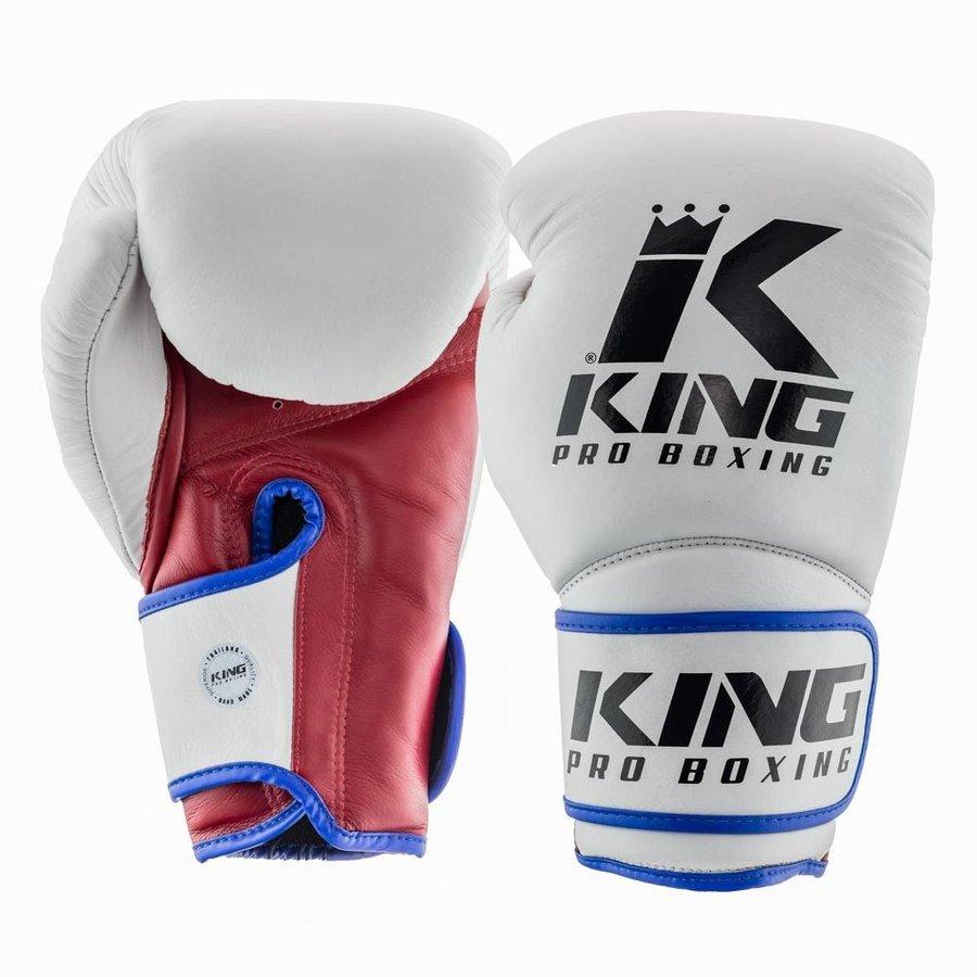 Bílo-červené boxerské rukavice King