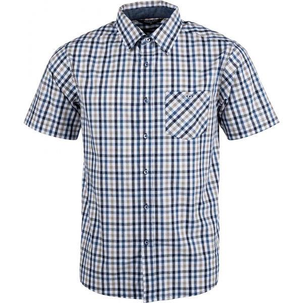 Bílo-modrá pánská košile s krátkým rukávem Willard - velikost L