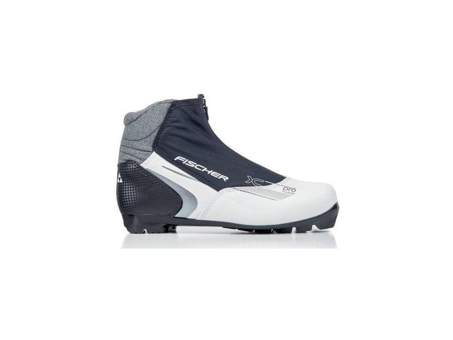 Bílo-černé dámské boty na běžky Fischer