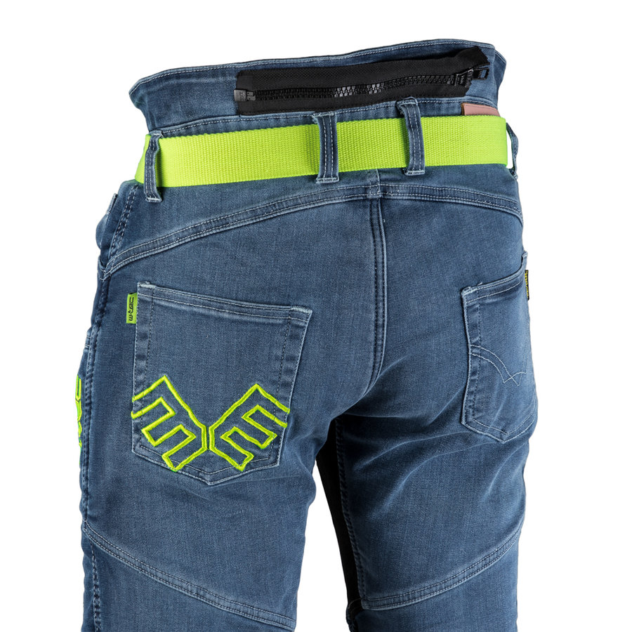 Modré dámské motorkářské kalhoty Ekscita, W-TEC - velikost 36