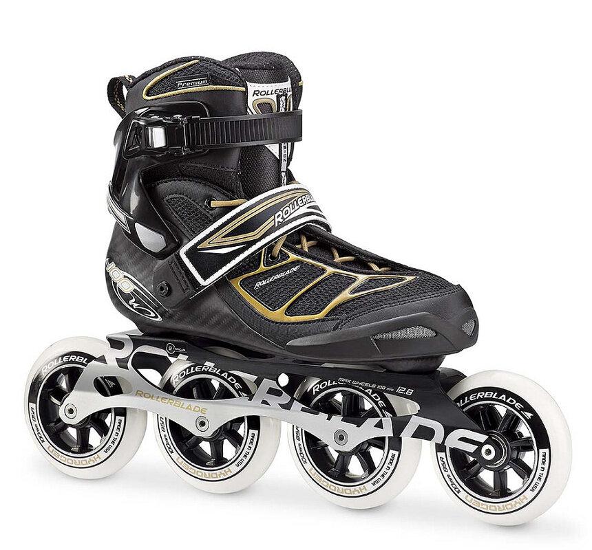 Černé in-line dámské kolečkové brusle Rollerblade