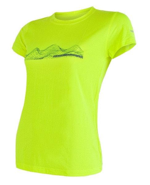 Žluté dámské tričko s krátkým rukávem Sensor