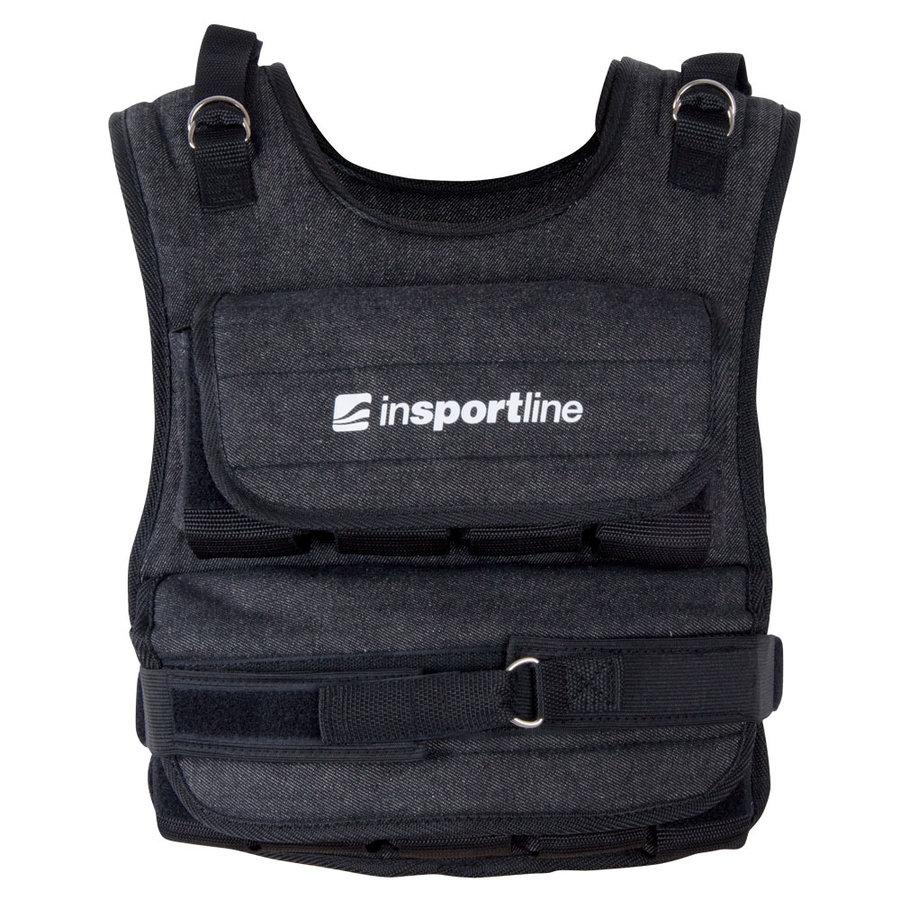 Černá zátěžová vesta LKW-1060, inSPORTline - 20 kg