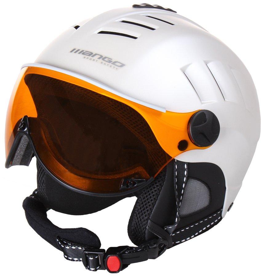 Stříbrná lyžařská helma Volcano PRO, Mango - velikost 56-58 cm