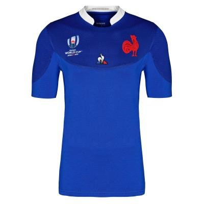 Modrý ragbyový dres 2019, Le Coq Sportif - velikost S