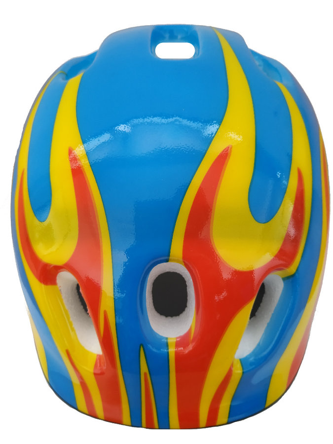 Modro-žlutá dětská cyklistická helma SKITT