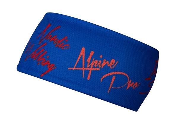 Modrá běžecká čelenka Alpine Pro