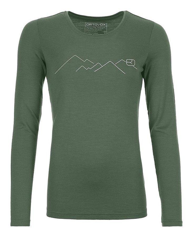 Zelené dámské termo tričko s dlouhým rukávem Ortovox