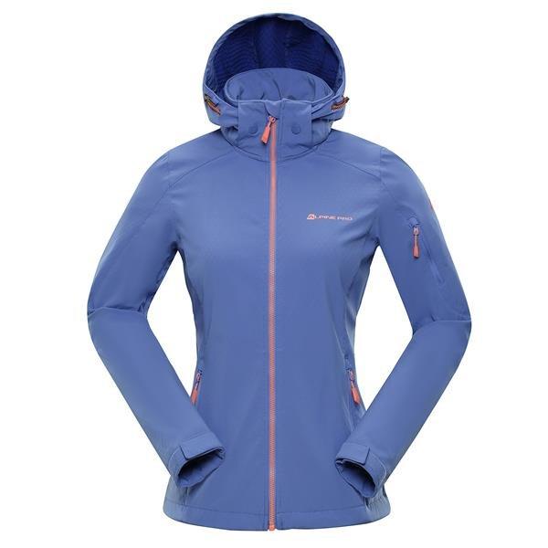 Modrá softshellová dámská turistická bunda Alpine Pro - velikost XS