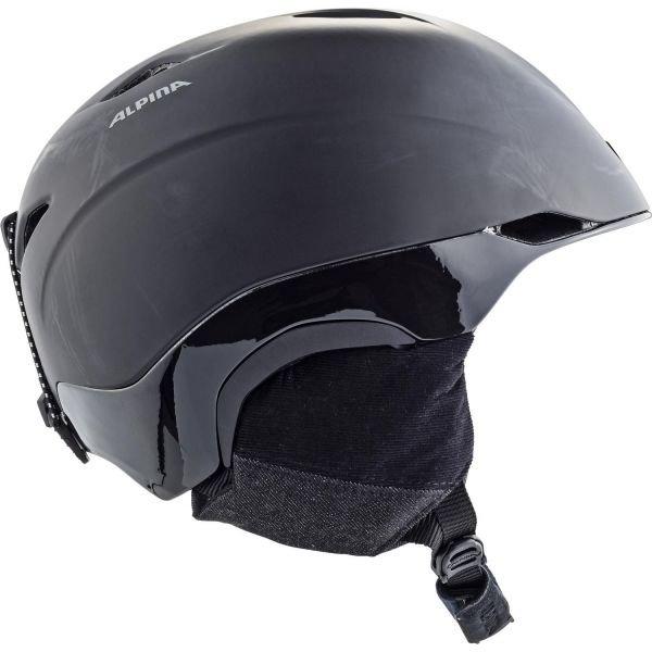 Černá lyžařská helma Alpina - velikost 55-56 cm